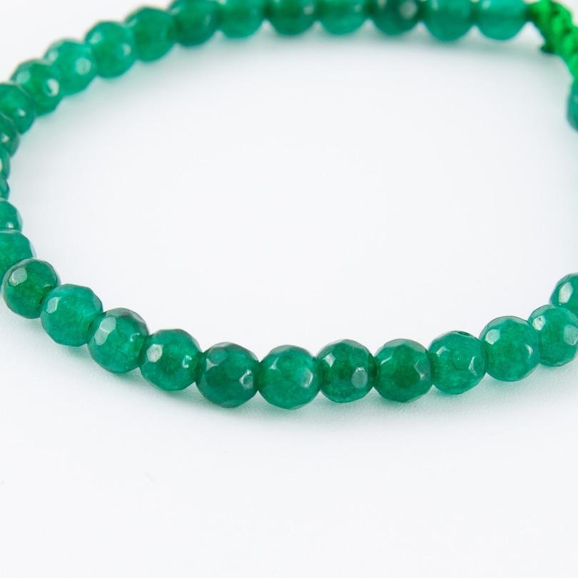VEKNO 4mm Natural Stone Bead Chakra Bracelets Unisex Braided Adjustable Rope Healing Energy Bracelet Women Men