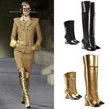 DORATASIA New Luxury Brand Over The Knee Boots Ladies Thigh High Boots Women 2019 Runway Show High Heels Shoes Woman 33-43