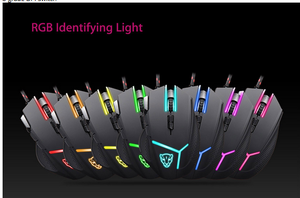 Image 4 - Motospeed V18 Gaming Wired Mouse 7 Button 4000DPI 8 grade LED Optical USB Precision Optical 9Keys Breathing Lamp with 1.8m Cable
