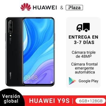 Купить Глобальная версия Huawei Y9s (P Smart Pro) 6 ГБ 128 ГБ 48MP смартфон Threefold AI Cam авто-всплывающий фронтальная камера 6,59 дюймсотовый телефон