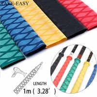 TAKE-EASY 1m Heat Shrink Tube Fishing Waterproof Anti-skid Wraps Fishing Rod Badminton Racket Sleeve PVC Tube Grip Cable Sleeve