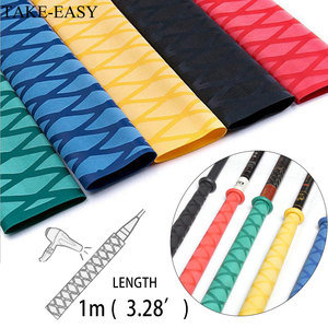 TAKE-EASY 1m Heat Shrink Tube Fishing Waterproof Anti-skid Wraps Fishing Rod Badminton Racket Sleeve PVC Tube Grip Cable Sleeve(China)