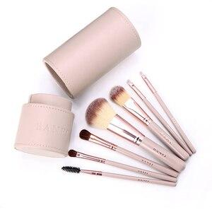 Image 4 - 7 Pçs/set Pincéis de Maquiagem Kit de Beleza Make up jogo de Escova Concealer Cosméticos Pincel de Blush Fundação Eyeshadow Concealer Lip Eye Ferramenta