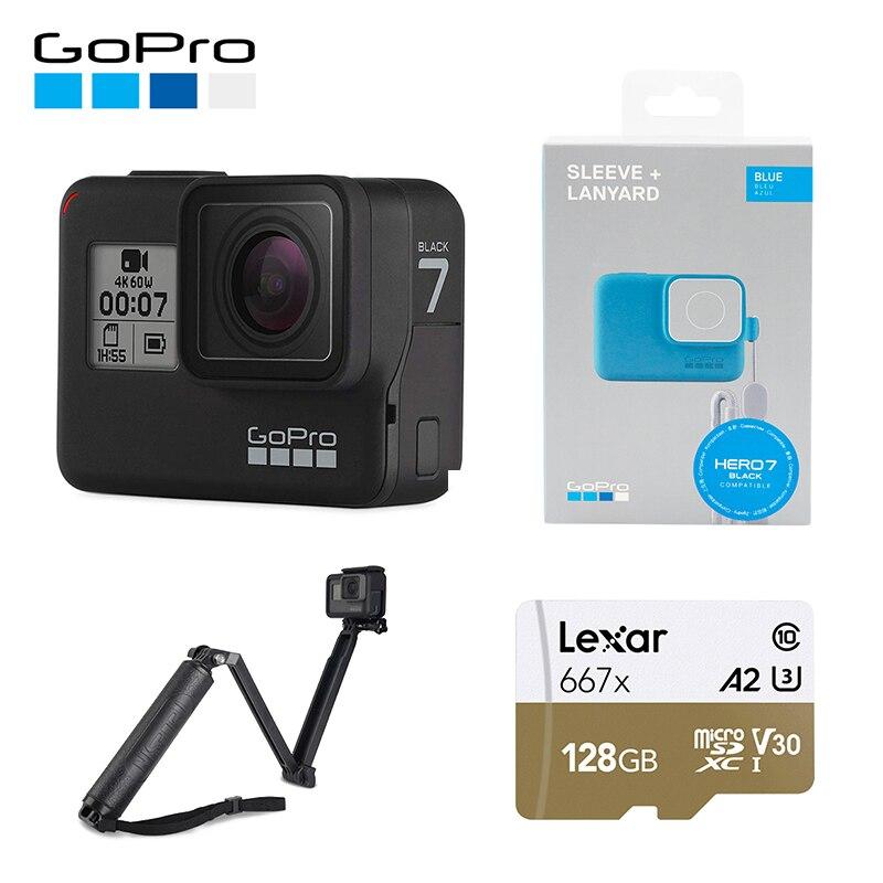 GoPro HERO7 Preto À Prova D' Água Esportes de Ação Da Câmera GoPro HERO 7 12MP Fotos Ao Vivo Streaming de Estabilização