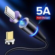 GETIHU 5A Магнитный кабель type C Supercharge для huawei P30 P20 mate 20 10 Pro Магнитный Быстрый type-C зарядное устройство для мобильного телефона USB C шнур