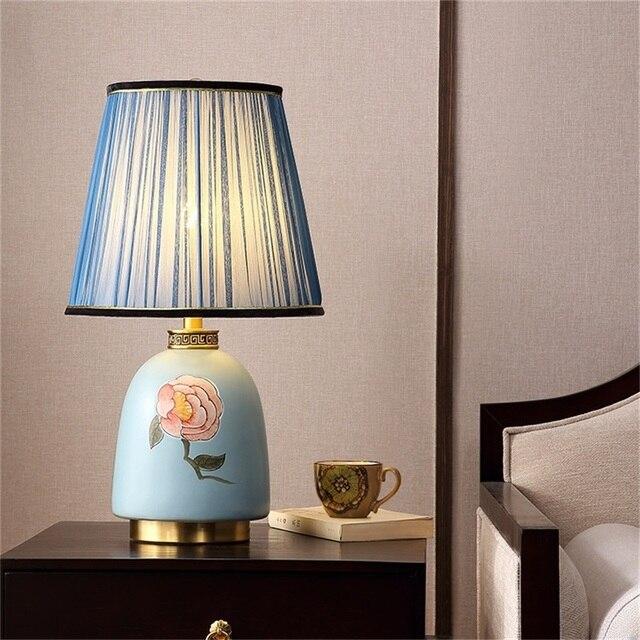 Фото латунные настольные лампы oufula керамический настольный светильник цена