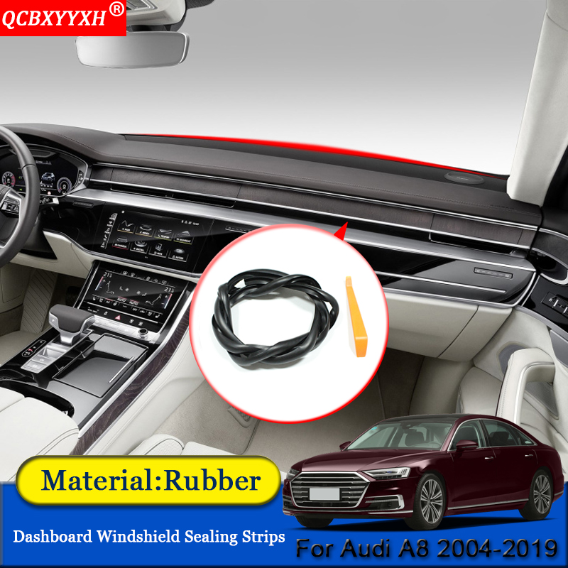 Car-styling Anti-Noise Soundproof Dustproof Car Dashboard Windshield Sealing Strips Auto Accessories Fit For <font><b>Audi</b></font> <font><b>A8</b></font> 2004-2019 image