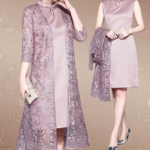 Violet Silk Embroidery Mother Of The Bride Dresses