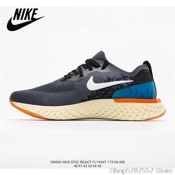 Nike Epic React Flyknit Breathable Knitted Flying Line Lightweight Men's Running Shoes Size 40-45