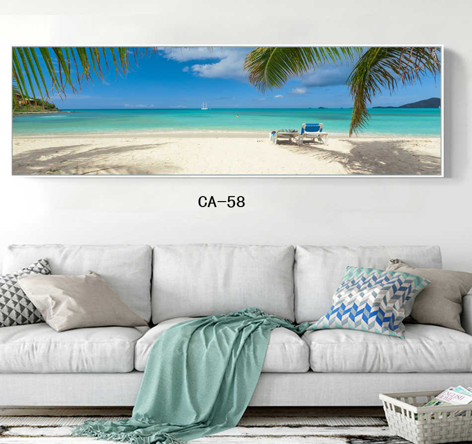 Скандинавское искусство, Современное украшение дома, настенное искусство, постеры, печать на холсте, краски, голубое небо, морской пейзаж, Кит, животные