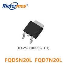 100 sztuk FQD5N20L FQD7N20L FQD7N20 FQD5N20 TO252 D5N20 5N20 SMD wykonane w chinach