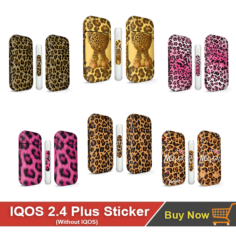 Hot Sale Leopard Print Sticker For Iqos For IQOS 2.4 Plus Skin Sticker 11Colors In Stock