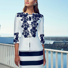 tailor shop custom made navy blue lace jacket and dress moth