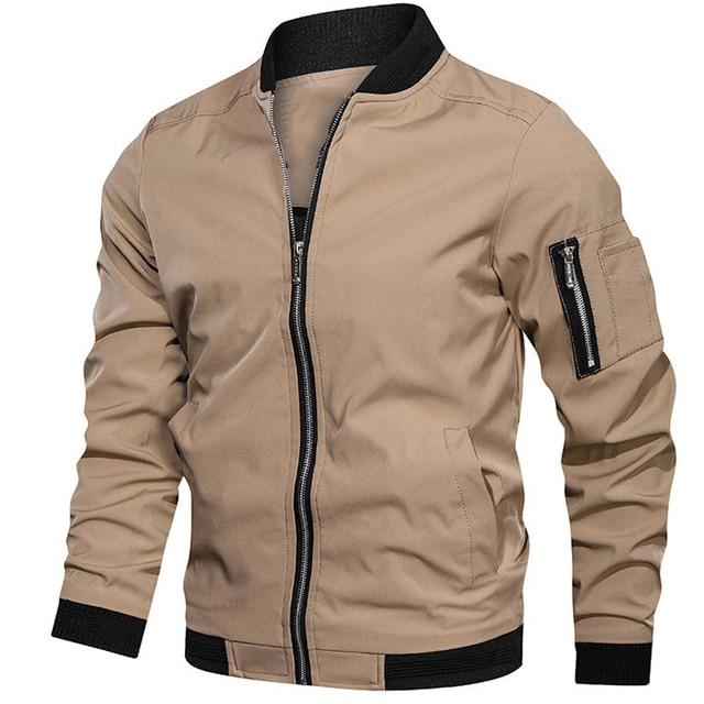 Mens jackets and coats Men's bomber jacket Spring   5