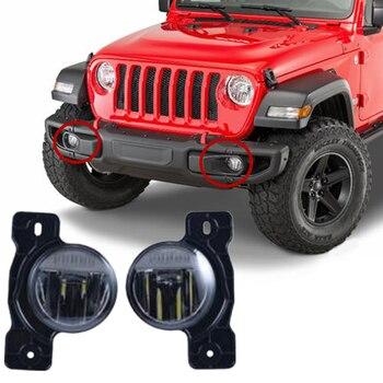 Car 12V Front Bumper Led Fog Lights For Jeep Wrangler JL 2018 2019 10th Anniversary Accessories