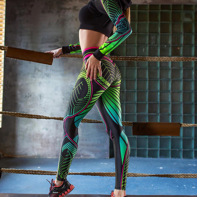High Waist Athletic Print Leggings 6