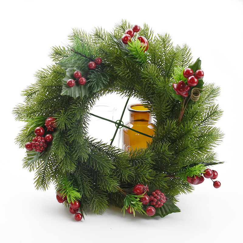 Christmas Wreath Decorative Flowers Wedding Decorations For Home Wall Pendant Bridal Accessories Clearance Artificial Plants