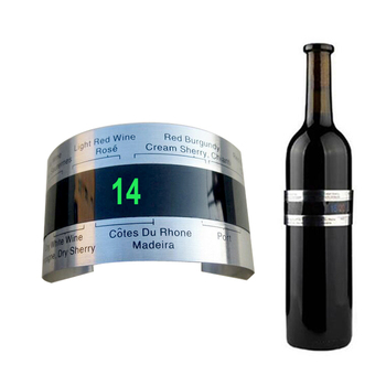 Wine Bottle Thermometer Collar LCD Display 1