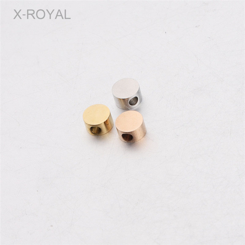 X-ROYAL 10Pcs/lot 5mm Diameter Round Shape Stainless Steel Loose Beads DIY 1.8MM Hole Jewelry Findings Metal Spacer