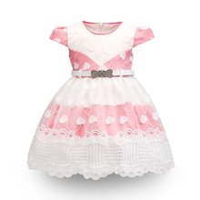 2020 New Summer Baby Girl Dress Newborn Baby Lace Princess Dress for Baby Birthday Dress Pageant Costume Infant Party Dress 2-5Y(China)