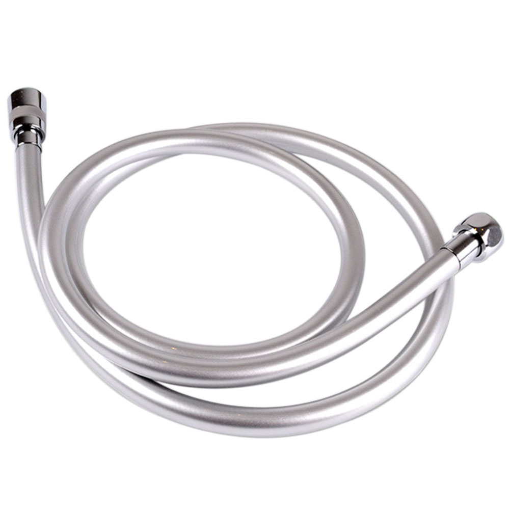 Explosion Proof Heat Resistant Long PVC Bath Shower Hose Smooth Hotel High Pressure Swivel Connector Flexible Silver Pipes