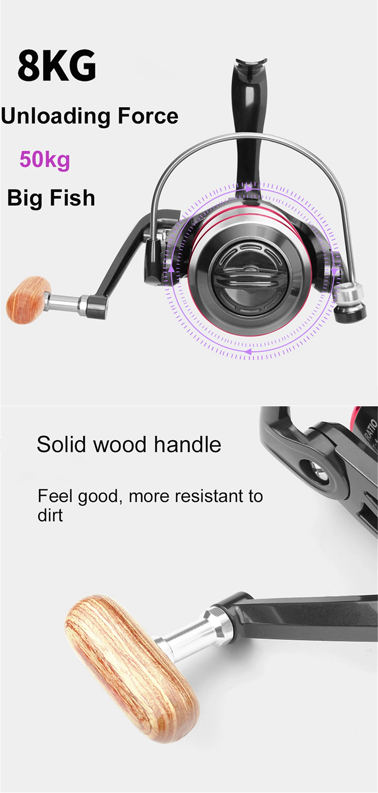 2021 Trending New Arrivals Professional Throwing Fishing Gifts Spinning Fishing Wheel Trolling Fish Reels