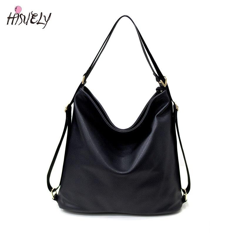 High Quality Women Artificial Leather Shoulder Bag Female Big Handbag Black Color New Arrival  Designer Ladies Totes Bags Hobos