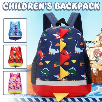 Mochila infantil con diseño de dinosaurio, bolso escuela bebé, mochila infantil de dibujos animados, material escolar