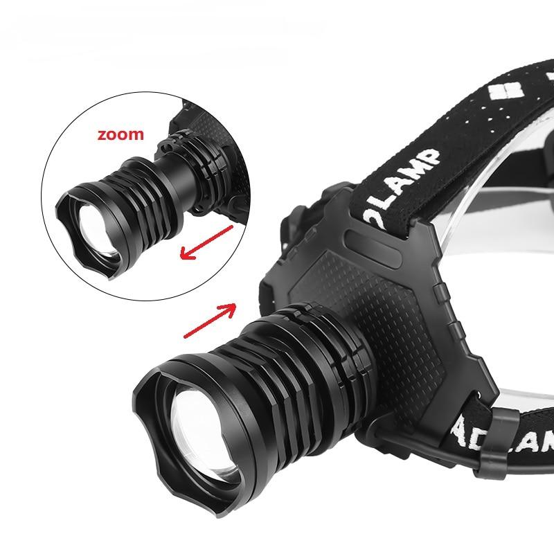 Image 2 - XHP90.2 high power led head torch zoom usb headlamp flashlight recharge lamp 18650 Power Bank 8000mAh hiking fishing headlightHeadlamps   -