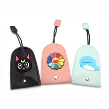 Cartoon Animals Pull Type Key Bag  PU Leather Key Wallets Housekeepers Car Key Holder Case New Leather Keychain Pouch
