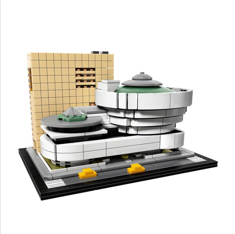 bela 10679 Architecture Building Set Solomon R. Guggenheim Museum 21035 Model Building Block Bricks Toys