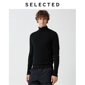 Image 4 - Select nouveau 100% laine à col haut tricoté pulls hommes col roulé hiver pull S