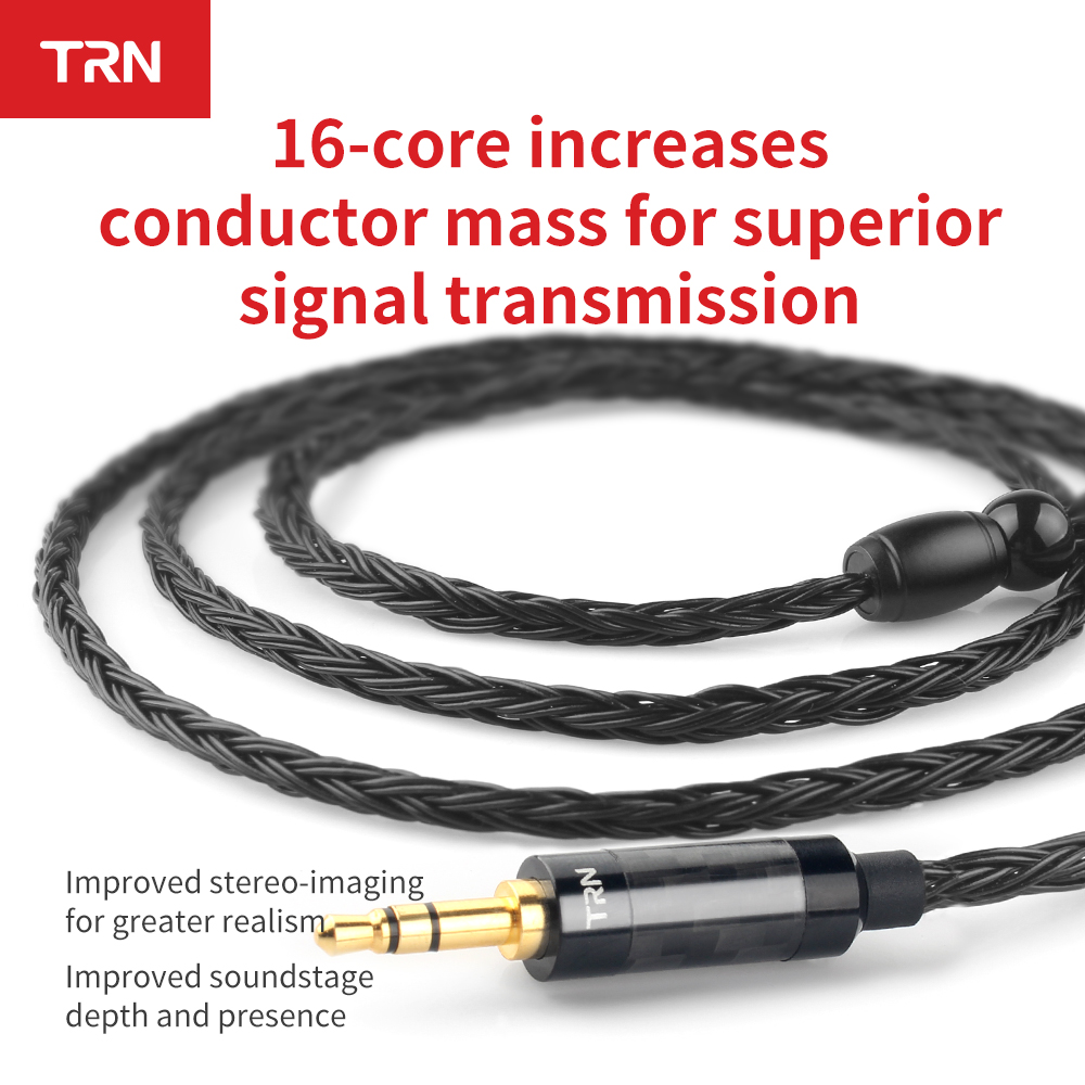 TRN 16 Core Silver Plated Headphone Cable  2.5mm 3.5mm 4.4mm to 0.75 0.78 2pin mmcx Balanced Hifi Replacement Earphone Cable