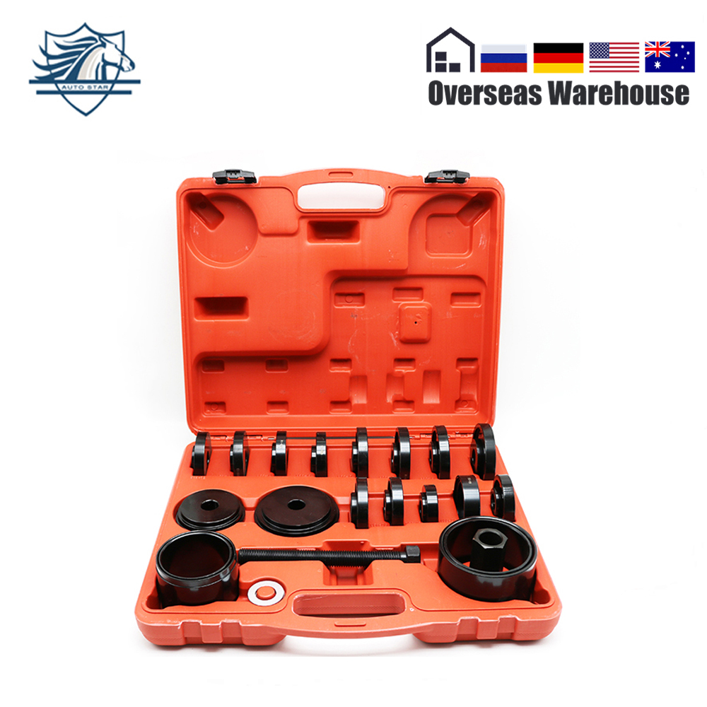 23Pcs FWD Front Wheel Drive Bearing Press Kit Removal Adapter Puller Pulley Tool Kit