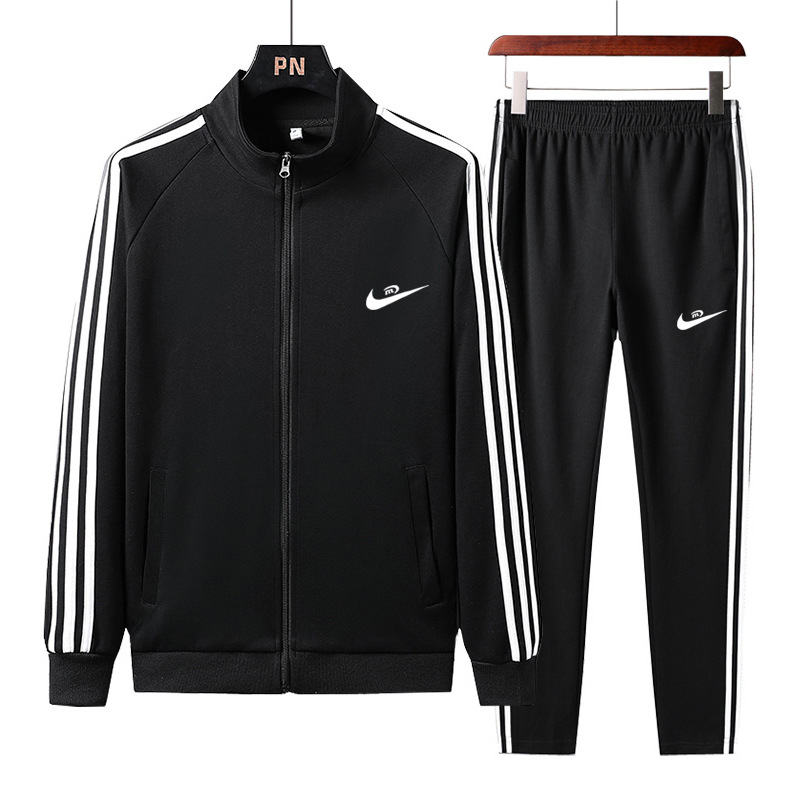 Spring And Autumn Sports Clothing MEN'S Suit Casual Athletic Clothing Winter Hoodie Coat Trousers Two Three-piece Set Running Co