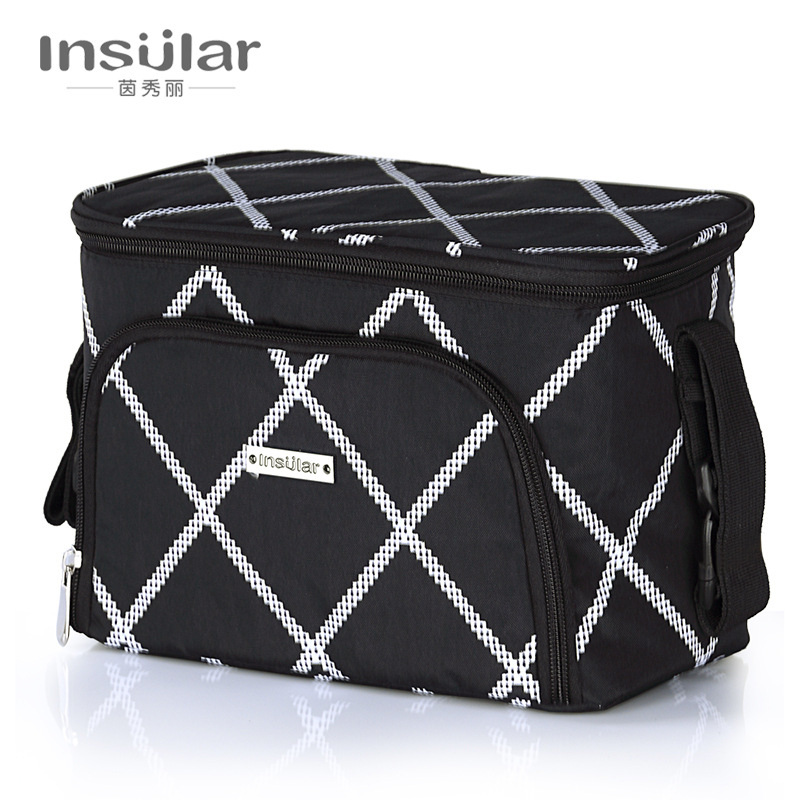 Cross Border For Insular Multi-functional Insulated Diaper Bag Waterproof Stroller Pannier Bag Stroller Cart Bag Cross Border