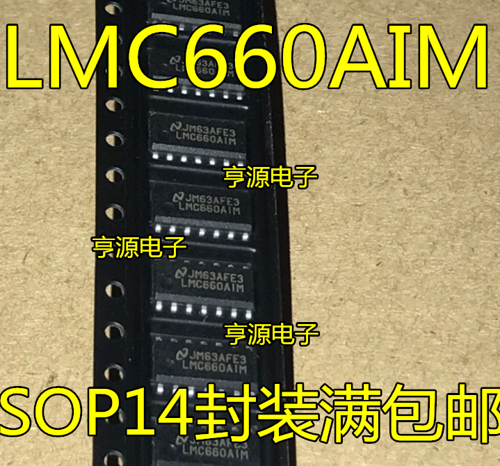 10pieces <font><b>LMC660</b></font> LMC660AIM LMC660CM SOP14 image