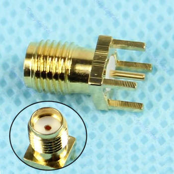 PCB Mount SMA Female Plug Straight Receptacle Solder Adapter Connector image