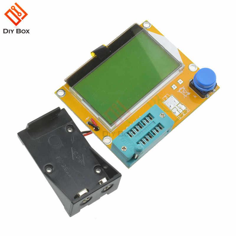 LCR-T4 Mega328 M328 Tester próbnik elektroniczny ESR miernik rezystancji dioda trioda miernik pojemności elektrycznej multimetr MOS PNP NPN miernik przebiegu