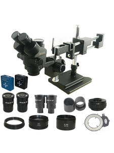Stereo Microscope Digital-Camera Simul Focal Trinocular HDMI Jewelry Industrial-Pcb Double-Boom