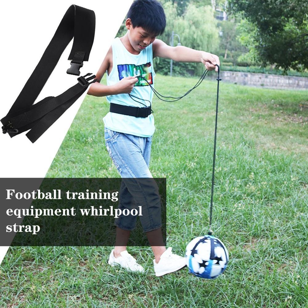 Football Kick Solo Trainer Belt Waist Belt Control Skills Soccer Practice Training Aid Equipment Foot Shoot Assistance
