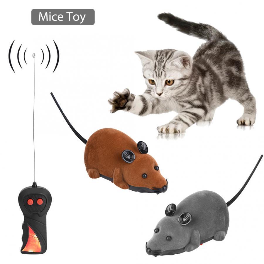 Новинка, игрушка для мыши, Электронная ложная мышь, Интерактивная игрушка, беспроводная мышь для кошки, собаки, забавная крыса, новинка, подарок|Роботы и животные с ДУ| | АлиЭкспресс