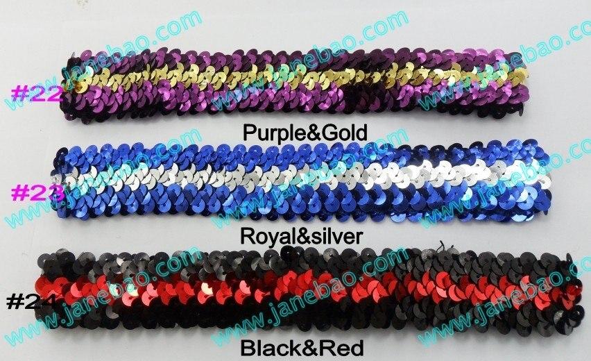 Разноцветные повязки на голову с блестками для девочек, 1000 шт., 1 '', эластичная повязка на голову с блестками