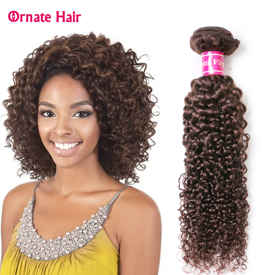 Kinky Curly Bundles Brazilian Hair Weave Bundles 8-26 Inch 2#Kinky Curly Bundles Non-Remy 100% Human Hair Extension Meddle Ratio