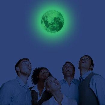 12/20/30 см светящаяся Луна светящаяся наклейка земная Вселенная планеты флуоресцентная Настенная Наклейка s In The Dark Сделай Сам Дети Спальня деко принадлежности