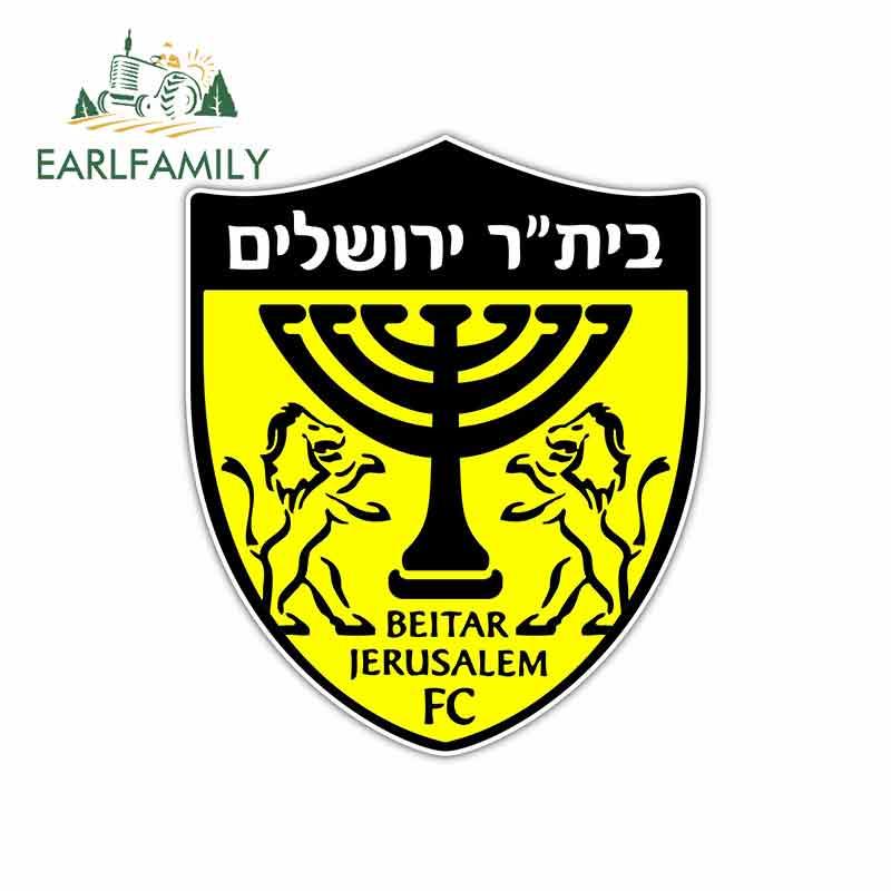 EARLFAMILY 13cm X 11cm Funny Car Stickers Waterproof Decals Skateboard Laptop For Beitar Jerusalem FC Israel Football Graphics