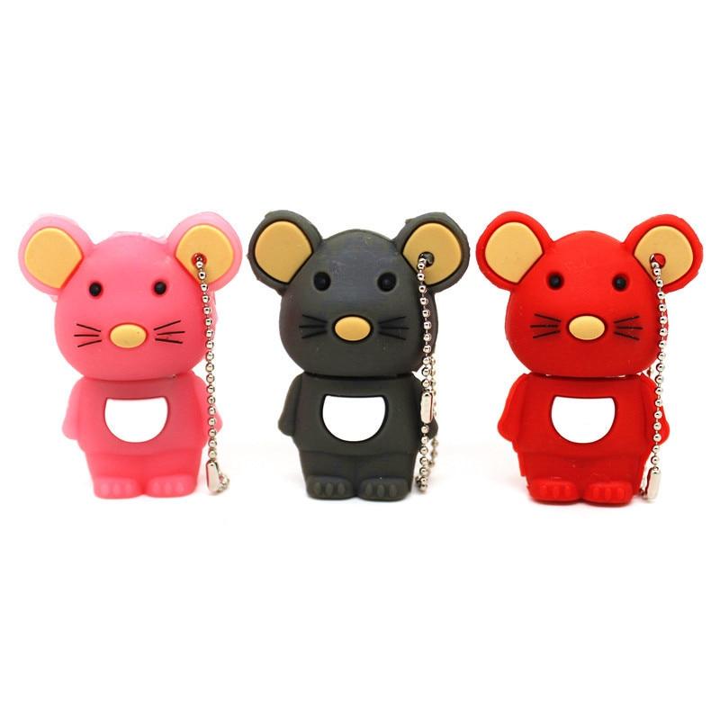 USB Flash Drive Cute Mouse Pen Drive 32GB 4GB 8GB 16GB 64GB 4GB Pendrive U Disk 128MB Mini Cartoon Gift Memory Stick