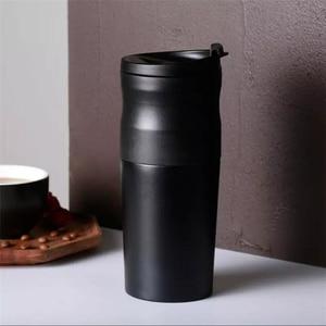 Image 2 - Youpin LAVIDA électrique en acier inoxydable café 427ML broyeur Double couche filtre Mini cuisine moulin café grain mouture café