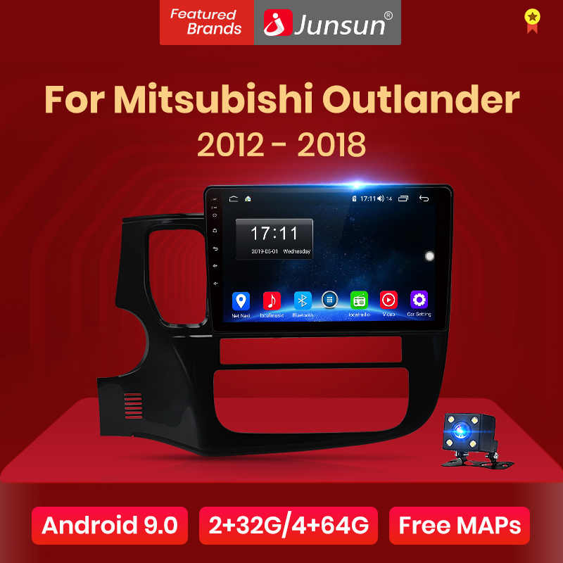 Junsun Android 10.0 Multimedia Video Player di Navigazione GPS Radio Per Mitsubishi Outlander XL 2012 2013 2014 2015 2016 2017 2018