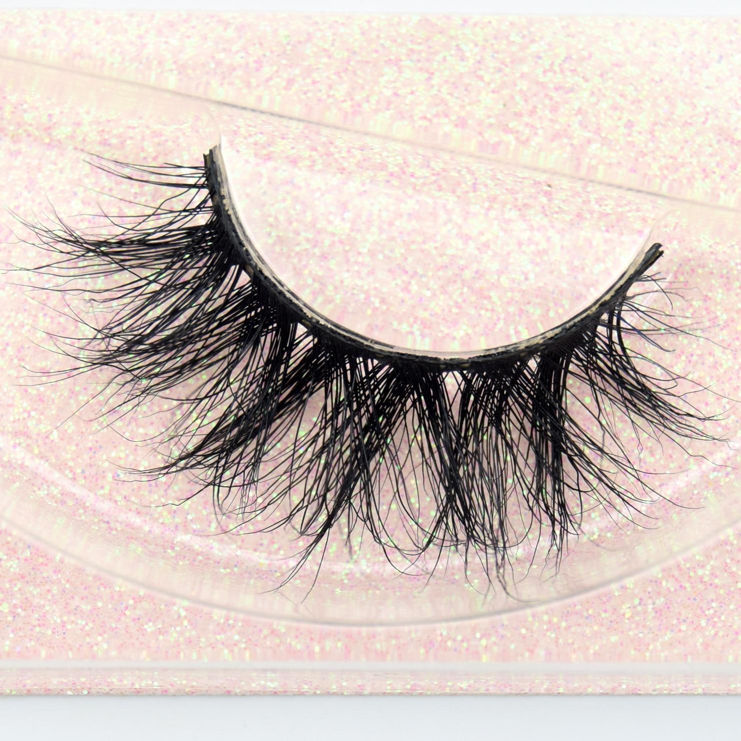 Visofree Mink Eyelashes 100% Cruelty free Handmade 3D Mink Lashes Full Strip Lashes Soft False Eyelashes Makeup Lashes E11(China)